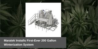 Cannabis Winterization 200 Gallon System