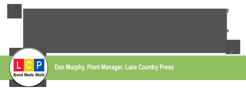 Lake Country Press Testimonial