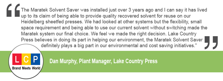 Lake Country Press Testimonial